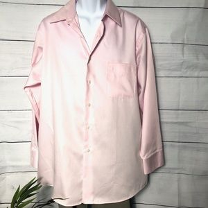 Geoffrey Beene Pink Sateen Dress Shirt NWT - XL